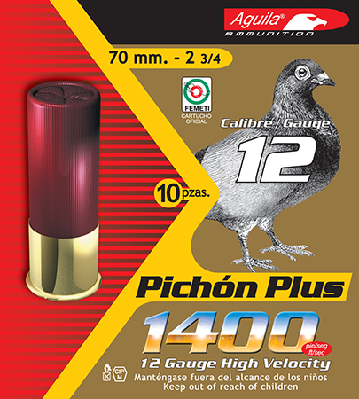 Aguila 1CHB1296 Competition Pigeon Plus 12 Gauge 2.75 1-1|4 oz 8 Shot 10 Bx| 25 in.