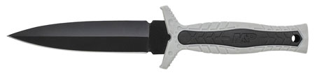Schrade SWMPF3G M&P Knife 4.57 8Cr13MoV Stainless Steel Spear Point Grey Rubber in.