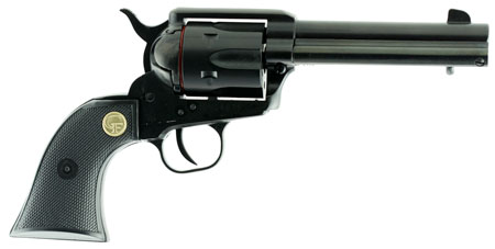 Chiappa Firearms CF340261 1873 Single Action Army Single 17 Hornady Magnum Rimfire (HMR) 4.75 6 Black Polymer Black in.