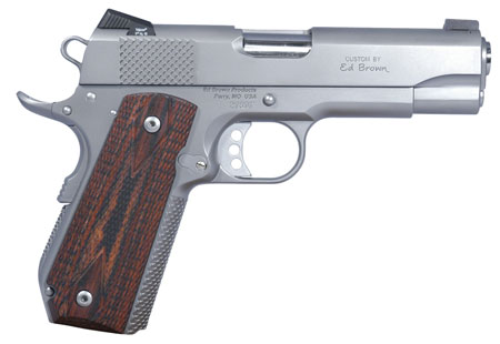 Ed Brown KCSSCAL2 Kobra Carry *CA Compliant* Single 45 Automatic Colt Pistol (ACP) 4.25 7+1 Laminate Wood Grip Stainless in.