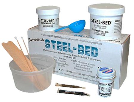 Brownells 081040003 Steel Bed Kit Steel Bed Kit 9 Piece