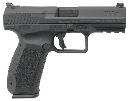 Century HG4068N TP9DA DA|SA 9mm Luger Single|Double 4.07 18+1 Black Interchangeable Backstrap Grip Black Cerakote Slide in.