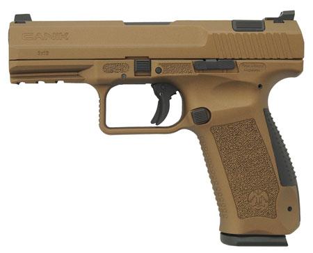Century HG4068BN TP9DA DA|SA 9mm Luger Single|Double 4.07 18+1 Black Interchangeable Backstrap Grip Burnt Bronze Cerakote Slide in.