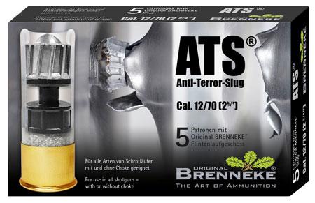Brenneke SL122ATS Anti Terror 12 Gauge 2.75 1 oz Slug Shot 5 Bx| 40 Cs in.