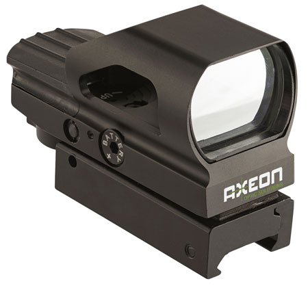 Axeon 2218638 Reticle Optics Reflex Sight 4 Options Red|Green Reticle Black