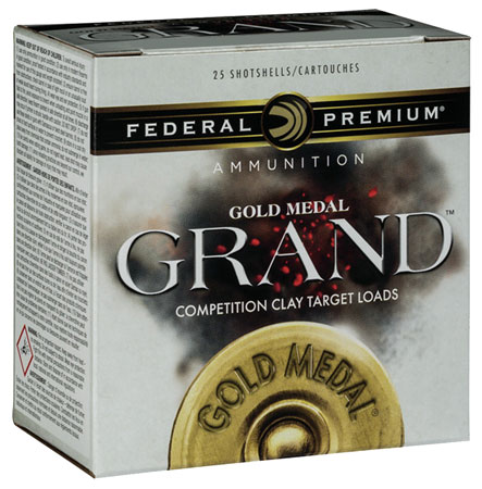 Federal GMT17875 Gold Medal Grand Plastic 12 Gauge 2.75 1-1|8 oz 7.5 Shot 25 Bx| 10 Cs in.