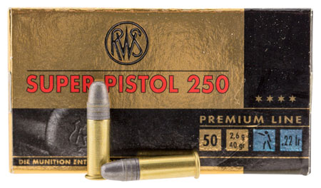Walther Arms 2315570 22 Long Rifle 40 GR Lead Round Nose 50 Bx| 1 Cs