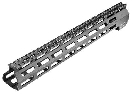 Aim Sports MTMR03 AR15 M-Lok Handguard 15 Picatinny 6061-T6 Aluminum Black Anodized in.