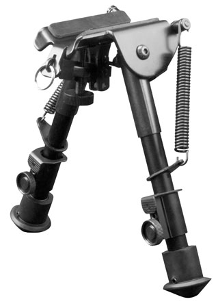 Aim Sports BPHS01 H-Style Bipod Black Aluminum and Carbon Steel 6.5-9