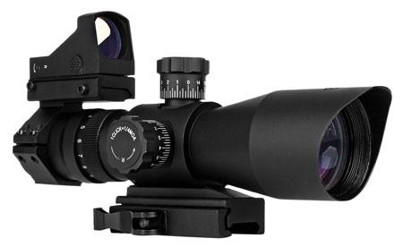 Trinity Force SR11S3942RGB Redcon 3-9x 42mm Obj 37.9-11.5 ft @ 100 yds FOV 32.5mm Tube Black Matte Mil-Dot| Mirco Red Dot