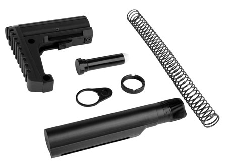 Trinity Force WTAL01B Defender L1 Stock Kit AR-15 Aluminum|Steel Black Hard Coat Anodized