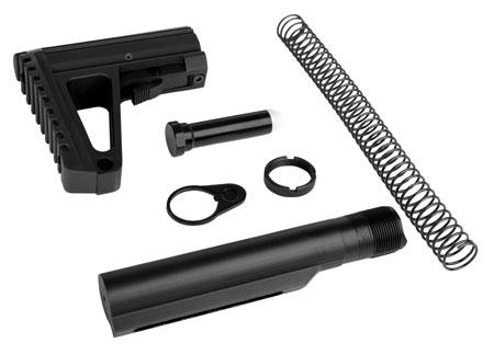 Trinity Force WTAL02B Defender L2 Stock Kit AR-15 Aluminum|Steel Black Hard Coat Anodized