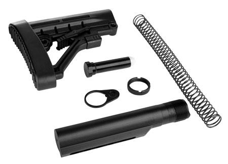 Trinity Force WT05B Omega Stock Kit AR-15 Aluminum|Steel|Rubber Black