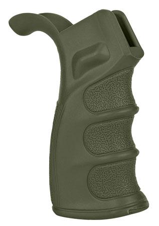 Trinity Force WBG01G AR Grip w|Storage AR-15|M16|M4 Grooved Green Polymer