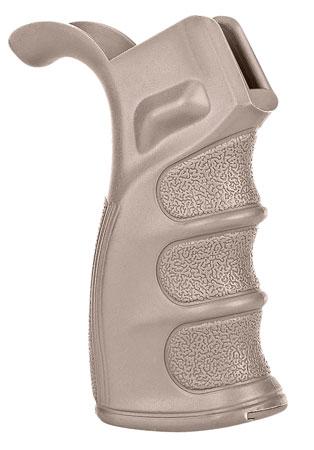 Trinity Force WBG01S AR Grip w|Storage AR-15|M16|M4 Grooved Tan Polymer