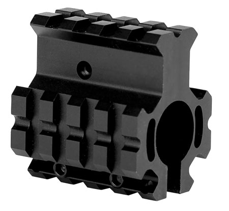 Trinity Force MN012H Quad Rail Gas Block AR Style Black Hard Coat Anodized Steel|Aluminum 1.85 L x 1.5 in.  W in.