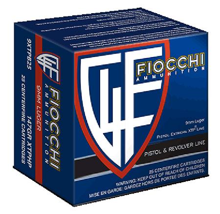 Fiocchi 9XTPB25 Extrema 9mm 147GR XTP HP 25Box|20Case