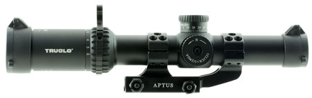 Truglo TG8516TLR Omnia Tactical 1-6x 24mm Obj 107.3-17.2 ft @ 100 yds FOV 30mm Tube Black Hardcoat Anodized Finish Illuminated APTR