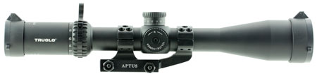 Truglo TG8541TLR Eminus 4-16x 44mm Obj 23.74-5.94 ft @ 100 yds FOV 30mm Tube Black Hardcoat Anodized Illuminated TacPlex
