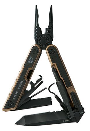 Real Avid|Revo AVAR15T AR15 Multi-Purpose Tool 3.25 440C Stainless Tanto Black G10 Black in.