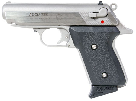 Excel AT38101 Accu-Tek AT-380 II Single 380 Automatic Colt Pistol (ACP) 2.8 6+1 Blk Synthetic Grip SS in.