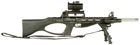 Excel EA22111 Accelerator Rifle MR-22 Semi-Automatic 22 Winchester Magnum Rimfire (WMR) 18 9+1 Synthetic Black Stk Black in.