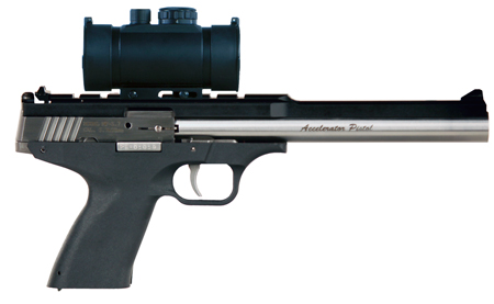 Excel EA57302 Accelerator Pistol MP-5.7 5.7mmX28mm Double 8.5 9+1 Black Polymer Grip Stainless Steel Slide in.