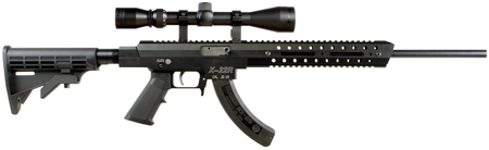 Excel EA22602 X-Series X-22R Semi-Automatic 22 Long Rifle (LR) 18 25+1 3-9x40 Scope Collapsible Black Stock Black in.