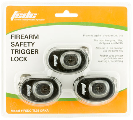 Firearm Safety Devices TL3510RKA Keyed Trigger Lock Black