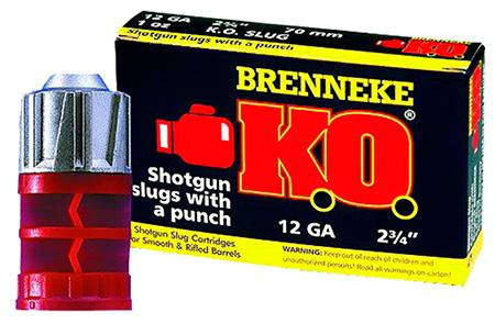 Brenneke SL122KO K.O. 12 Gauge 2.75 1 oz Slug Shot 5 Bx| 50 Cs in.