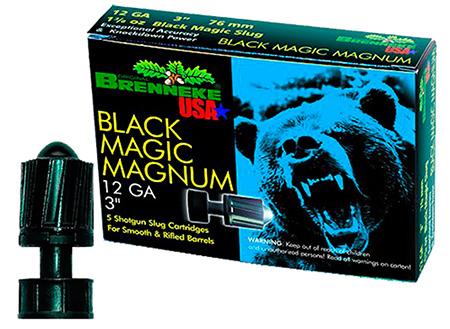 Brenneke SL123BMM Black Magic Magnum 12 Gauge 3 1-3|8 oz Slug Shot 5 Bx| 50 Cs in.