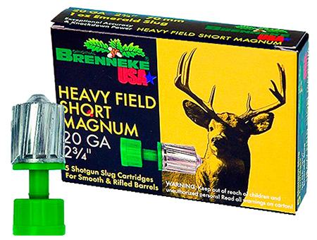 Brenneke SL202KO K.O. Slug 20 Gauge 2.75 3|4 oz Slug Shot 5 Bx| 50 Cs in.