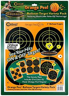 Caldwell 410-864 Orange Peel Targets Bullseye 4 10 Pack in.