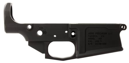 Aero Precision APAR308003C M5 308 Stripped Lower Receiver AR-10 AR Platform 308 Winchester|7.62 NATO Black Hardcoat Anodized