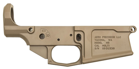 Aero Precision APAR308005C M5 308 Stripped Lower Receiver AR-15 AR Platform Multi-Caliber Flat Dark Earth Cerakote
