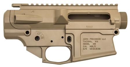 Aero Precision APCS100015S M5 Stripped Receiver Set M5  308 Winchester|7.62 NATO Flat Dark Earth Cerakote
