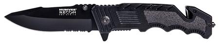 Humvee Accessories HMVKTR13 Tactical Recon #13 4 Stainless Steel Black Folding in.