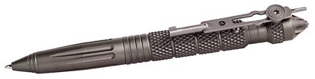Uzi Accessories UZITACPEN4GM Tactical Pen Glassbreaker Tactical Pen Glassbreaker Gun Metal