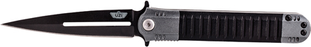 Uzi Accessories UZKFDR009 Covert Tactical Folding Knife 3.5 Stainless Steel Folding Aluminum in.
