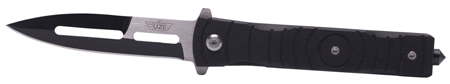 Uzi Accessories UZKFDR014 Tactical Folding Knife Mossad III 2.5 Stainless Steel G10 Black in.