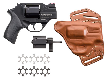 Chiappa Firearms 340218 Rhino 200DS Single|Double 357 Magnum 2 6 Black Rubber Chrome in.