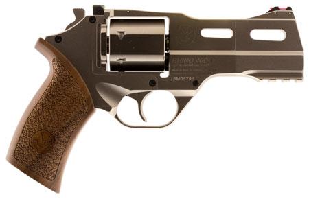 Chiappa Firearms 340245 Rhino 40SAR *CA Compliant* Single 357 Magnum 4 6 Walnut Chrome Stainless Steel in.