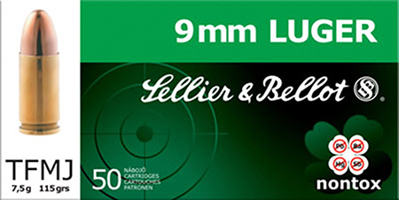 Sellier & Bellot SB9NT Handgun 9mm 115 GR FMJ 50 Bx| 20 Cs