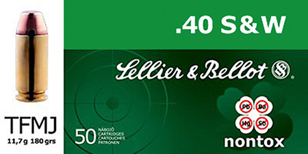 Sellier & Bellot SB40NT Handgun 40 S&W 180 GR FMJ 50 Bx| 20 Cs