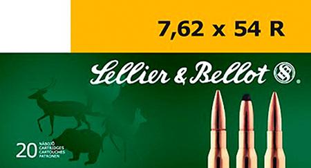 Sellier & Bellot SB76254RC Rifle 7.62x54mmR 174 GR Hollow Point Boat Tail (HPBT) 20 Bx/ 20 Cs