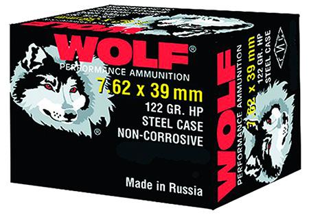 Wolf 762BHP PolyFormance Rifle 7.62X39mm 123 GR Hollow Point 20 Bx| 50 Cs 1000 Total (Case)