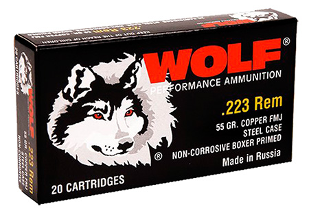 Wolf MC22355HP Hollow Point 223 Remington NATO 55 GR HP 500 Bx| 1 Cs