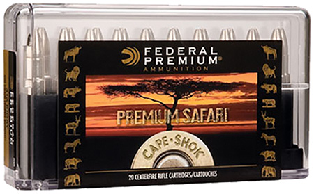 Federal P416SA Premium Safari Cape-Shok 416 Rigby 400 GR Swift A-Frame 20 Bx| 10 Cs