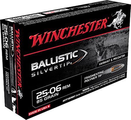Winchester Ammo SBST2506A Supreme 25-06 Remington 85 GR Ballistic Silvertip 20 Bx| 10 Cs