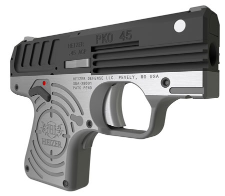 Heizer CKH45BLK PKO 45 Single 45 Automatic Colt Pistol (ACP) 2.75 5+1 Stainless Steel Grip|Frame Black in.